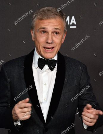 Actor Christoph Waltz attends the ninth annual LACMA Art+Film gala honoring Betye Saar and Alfonso Cuaron at the Los Angeles County Museum of Art in Los Angeles on Friday, November 2, 2019.