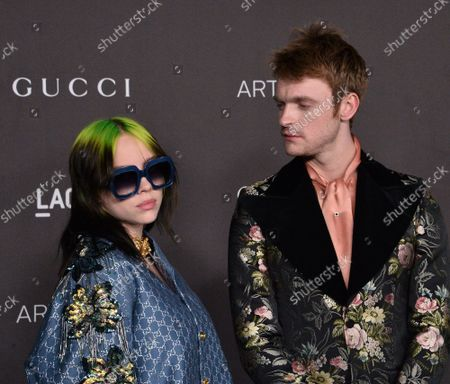 Billie Eilish and Finneas O'Connell attend the ninth annual LACMA Art+Film gala honoring Betye Saar and Alfonso Cuaron at the Los Angeles County Museum of Art in Los Angeles on Friday, November 2, 2019.
