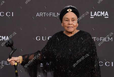 Honoree Betye Saar attends the ninth annual LACMA Art+Film gala honoring Saar and Alfonso Cuaron at the Los Angeles County Museum of Art in Los Angeles on Friday, November 2, 2019.