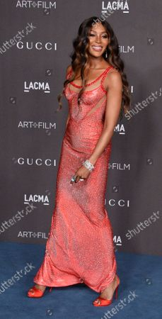Naomi Campbell attends the ninth annual LACMA Art+Film gala honoring Betye Saar and Alfonso Cuaron at the Los Angeles County Museum of Art in Los Angeles on Friday, November 2, 2019.