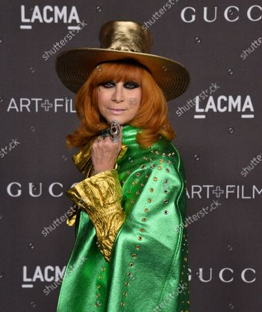 Linda Ramone attends the ninth annual LACMA Art+Film gala honoring Betye Saar and Alfonso Cuaron at the Los Angeles County Museum of Art in Los Angeles on Friday, November 2, 2019.