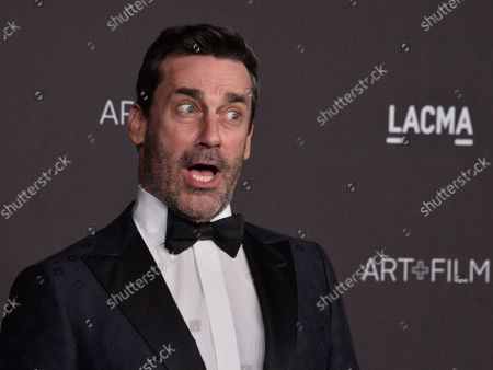 Stock Image of Actor Jon Hamm attends the ninth annual LACMA Art+Film gala honoring Betye Saar and Alfonso Cuaron at the Los Angeles County Museum of Art in Los Angeles on Friday, November 2, 2019.