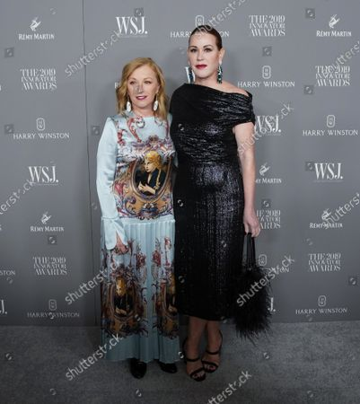 Molly Ringwald and Cindy Sherman arrive on the red carpet at the WSJ Mag 2019 Innovator Awards at The Museum of Modern Art on Wednesday, November 06, 2019 in New York City..