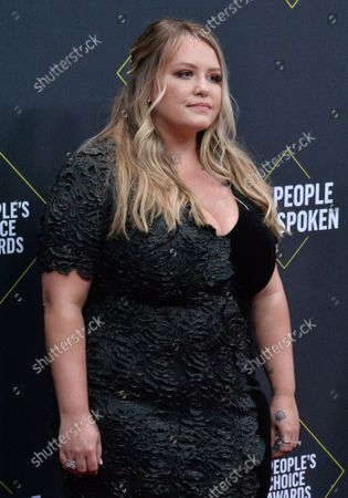 Stock Picture of Author Anna Todd arrives for the 45th annual E! People's Choice Awards at the Barker Hangar in Santa Monica, California on Sunday, November 10, 2019.
