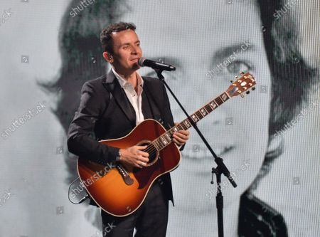Fonseca performs a tribute to Camilo Sesto onstage during the 20th annual Latin Grammy Awards honoring Columbian singer Juanes at the MGM Grand Convention Center in Las Vegas, Nevada on Thursday, November 14, 2019.