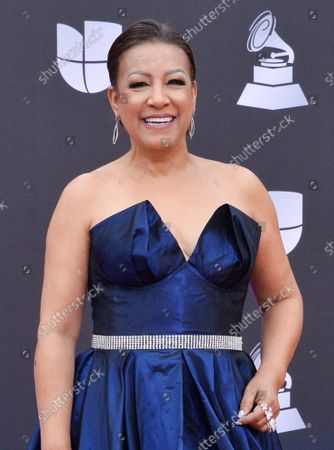 Singer Milly Quezada arrives on the red carpet for the 20th annual Latin Grammy Awards honoring Columbian singer Juanes at the MGM Grand Convention Center in Las Vegas, Nevada on Thursday, November 14, 2019.