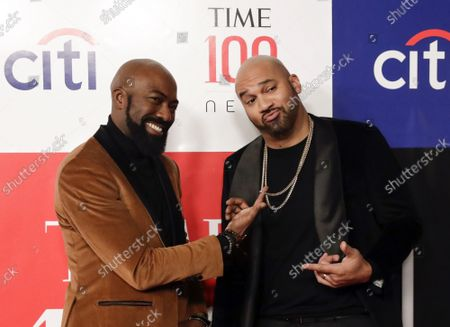 """Desus Nice and Joel Martinez """"The Kid Mero""""  arrives on the red carpet at the TIME 100 Next on Thursday, November 14, 2019 at Pier 17 in New York City. Time celebrated its first annual TIME 100 Next list of the 100 individuals who are shaping the future of their fields."""