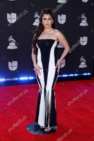 Singer Lauren Jauregui arrives for the 20th annual Latin Grammy Awards at the MGM Garden Arena in Las Vegas, Nevada on Thursday, November 14, 2019.