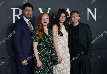 """Toby Kebbell, Lauren Ambrose, Nell Tiger Free and Rupert Grint arrives on the red carpet at the world premiere of Apple TV+'s """"Servant"""" at BAM Howard Gilman Opera House on Tuesday, November 19, 2019 in New York City."""