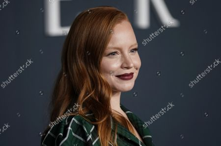 """Stock Picture of Lauren Ambrose arrives on the red carpet at the world premiere of Apple TV+'s """"Servant"""" at BAM Howard Gilman Opera House on Tuesday, November 19, 2019 in New York City."""
