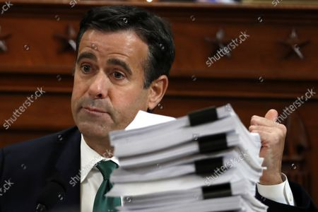 Rep. John Ratcliffe, R-Texas, questions Jennifer Williams, an aide to Vice President Mike Pence, and National Security Council aide Lt. Col. Alexander Vindman, as they testify before the House Intelligence Committee on Capitol Hill in Washington, Tuesday, Nov. 19, 2019, during a public impeachment hearing of President Donald Trump's efforts to tie U.S. aid for Ukraine to investigations of his political opponents.
