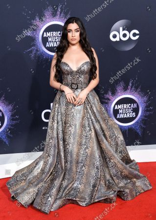 Singer Lauren Jauregui arrives for the 47th annual American Music Awards at the Microsoft Theater in Los Angeles on Sunday, November 24, 2019.