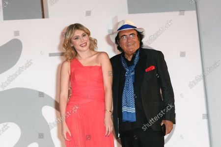 Al Bano  with his daugther Yasmine during the red carpet of the party offered by Diva e Donna magazine. 78th annual Venice International Film Festival, in Venice, Italy, 07 September 2021.