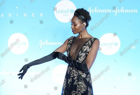 Damaris Lewis arrives on the red carpet at the 15th Annual UNICEF Snowflake Ball at Cipriani Wall Street on Tuesday, December 03, 2019 in New York City.