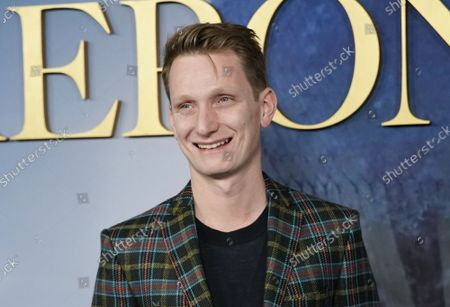 """Tom Harper arrives on the red carpet at """"The Aeronauts"""" New York Premiere at SVA Theater on Wednesday, December 04, 2019 in New York City."""