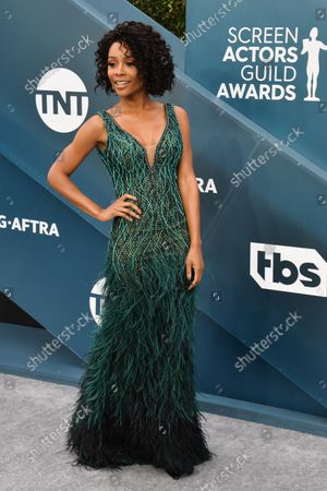 Zuri Hall arrives for the 26th annual SAG Awards held at the Shrine Auditorium in Los Angeles on Sunday, January 19, 2020. The Screen Actors Guild Awards will be broadcast live on TNT and TBS.