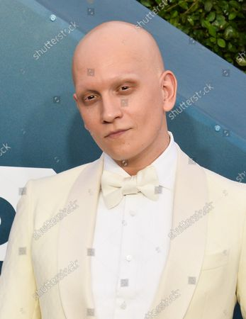 Anthony Carrigan arrives for the 26th annual SAG Awards held at the Shrine Auditorium in Los Angeles on Sunday, January 19, 2020. The Screen Actors Guild Awards will be broadcast live on TNT and TBS.