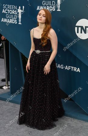 Sadie Sink arrives for the 26th annual SAG Awards held at the Shrine Auditorium in Los Angeles on Sunday, January 19, 2020. The Screen Actors Guild Awards will be broadcast live on TNT and TBS.