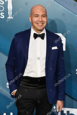 Billy Zane arrives for the 26th annual SAG Awards held at the Shrine Auditorium in Los Angeles on Sunday, January 19, 2020. The Screen Actors Guild Awards will be broadcast live on TNT and TBS.