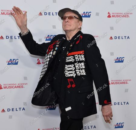 Rick Nielsen of Cheap Trick arrives for the MusiCares Person of the Year gala honoring Aerosmith at the Los Angeles Convention Center in Los Angeles on Friday, January 24, 2020.