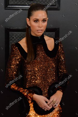 Ali Tamposi arrives for the 62nd annual Grammy Awards held at Staples Center in Los Angeles on Sunday, January 26, 2020.