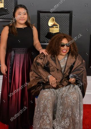 Stock Picture of (L-R) Roberta Flack and Kira Koga arrive for the 62nd annual Grammy Awards held at Staples Center in Los Angeles on Sunday, January 26, 2020.