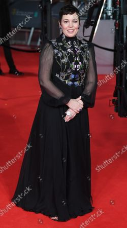 British actress Olivia Coleman attends the red carpet at the British Academy Film Awards at the Royal Albert Hall in London on February 2, 2020.