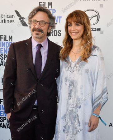 Marc Maron and Lynn Shelton attend the 35th annual Film Independent Spirit Awards in Santa Monica, California on Saturday, February 8, 2020.  UPI Photo Jim Ruymen/UPI