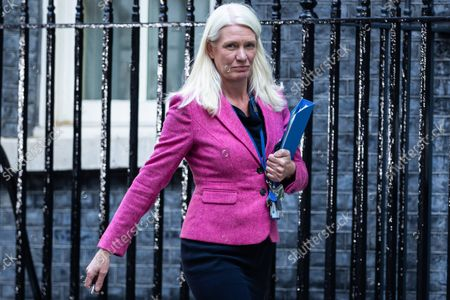 Amanda Milling departs after a cabinet meeting in Downing Street, London.This was the first in person cabinet meeting of the year as Prime Minister Boris Johnson later announced a 1.25% rise in National Insurance Contributions to pay for social care.