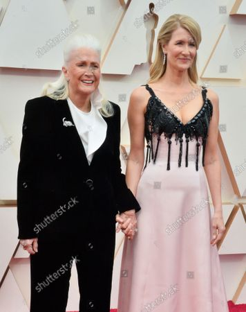 (L-R) Diane Ladd and Laura Dern arrive for the 92nd annual Academy Awards at the Dolby Theatre in the Hollywood section of Los Angeles on Sunday, February 9, 2020.