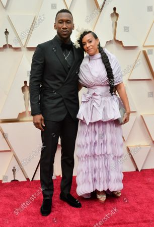 Mahershala Ali and Amatus Sami-Karim arrive for the 92nd annual Academy Awards at the Dolby Theatre in the Hollywood section of Los Angeles on Sunday, February 9, 2020.