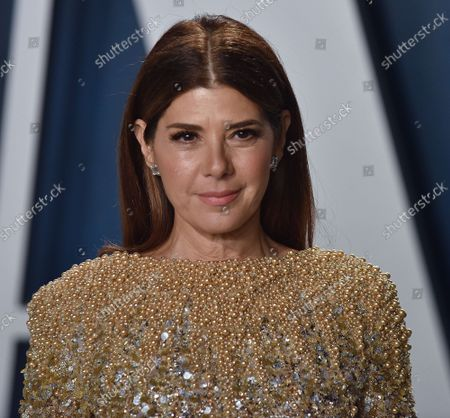 Marisa Tomei arrives for the Vanity Fair Oscar party at the Wallis Annenberg Center for the Performing Arts in Beverly Hills, California on February 9, 2020.