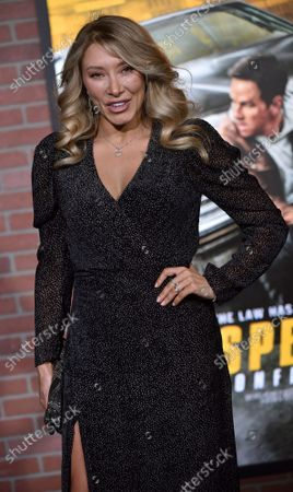Alexandra Vino arrives for the world premiere screening of 'Spenser Confidential' at the Regency Village Theatre in Los Angeles, California on Thursday, February 27, 2020.