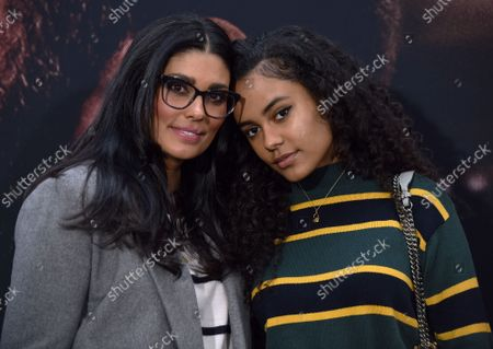 Rachel Roy (L) and Ava Dash arrive for the world premiere screening of 'The Way Back' at the Regal LA LIVE in Los Angeles, California on Sunday, March 1, 2020.