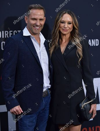 Stock Photo of Chris Bruno (L) and guest arrive for the world premiere screening of 'The Way Back' at the Regal LA LIVE in Los Angeles, California on Sunday, March 1, 2020.