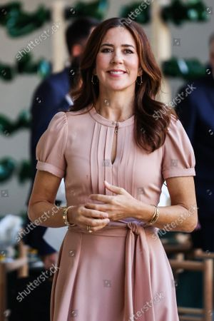 The Princess Mary during the visit of the Danish installations and companies at the Museum of Science and Technology at the Fuorisalone 2021