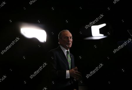 Democratic presidential candidate Mike Bloomberg delivers a speech announcing that he is suspending his campaign on Wednesday, March 4, 2020 in New York City. Bloomberg endorsed Joe Biden saying the former vice president had the best chance to win in November.
