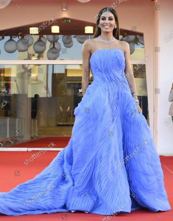 Italian TV host Elisabetta Gregoraci arrives for the premiere of 'Freaks Out' during the 78th annual Venice International Film Festival, in Venice, Italy, 08 September 2021. The movie is presented in the official competition 'Venezia 78' at the festival running from 01 to 11 September.