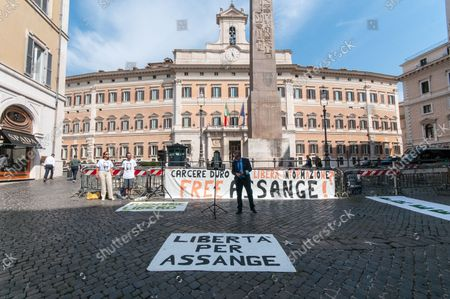 Editorial picture of Italians for Assange in support of press freedom, Rome, Italy - 08 Sep 2021