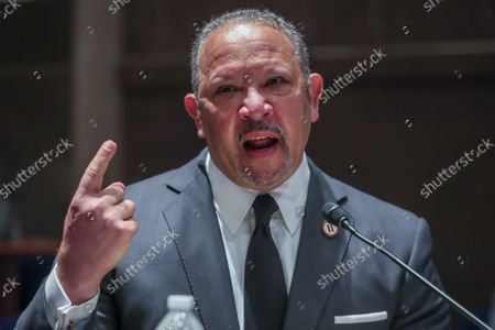 President and CEO of the National Urban League Marc Morial speaks during a House Judiciary Committee hearing to discuss police brutality and racial profiling on Wednesday, June 10, 2020.  The committee is looking into police practices and accountability in light of the death of George Floyd while in Minneapolis police custody in late May.