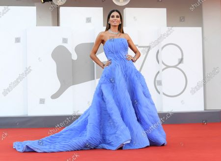 Elisabetta Gregoraci during 'Freaks Out' red carpet during the 78th edition of the Venice Film Festival in Venice, Italy, 8 Sep 2021