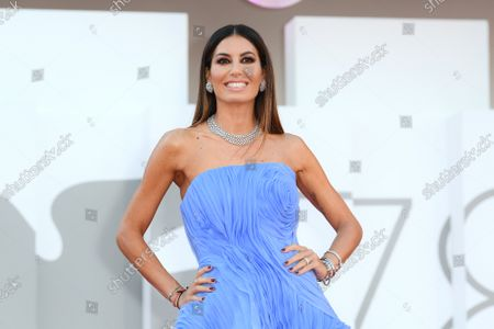 Stock Picture of Elisabetta Gregoraci during 'Freaks Out' red carpet during the 78th edition of the Venice Film Festival in Venice, Italy, 8 Sep 2021