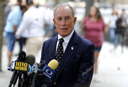 Editorial photo of NY Gov. Kathy Hochul, Former NY Mayor Mike Bloomberg, Commemorate 20th Anniversary September 11, New York, USA - 08 Sep 2021