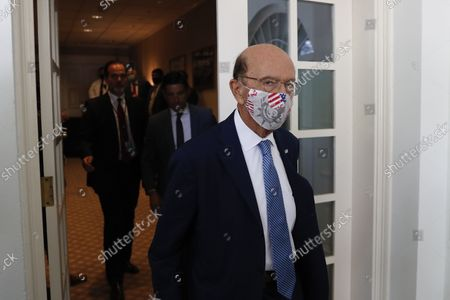 Wilbur Ross, U.S. commerce secretary, wears a protective mask while arriving to a signing ceremony with President Donald Trump and Mexican President Andres Manuel Lopez Obrador, during a signing ceremony in the Rose Garden of the White House in Washington, DC, on Wednesday, July 8, 2020.