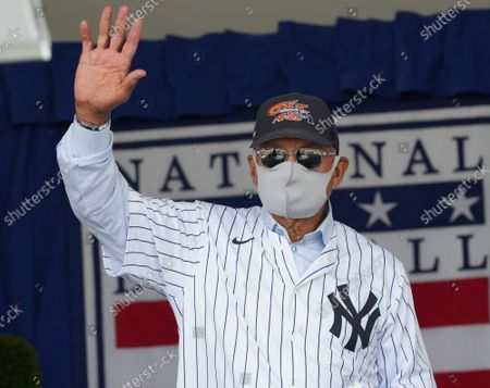 Yankees star HOF Reggie Jackson arrives for baseball's Hall of Fame Induction Ceremony 2021 for the 2020 inductees in Cooperstown, New York on Wednesday, September 8, 2021.  Derek Jeter, Ted Simmons, Larry Walker and players' union leader Marvin Miller will be inducted into the HOF during the event.