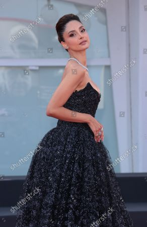 Patricia Contreras attends the red carpet of the movie 'Qui Rido Io' during the 78th Venice International Film Festival on September 07, 2021 in Venice, Italy.