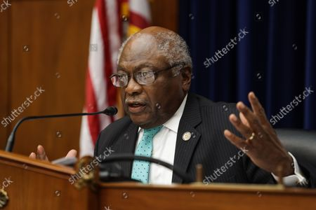 Stock Image of Oversight and Reform Subcommittee Chairman James E. Clyburn speaks before the House Select Subcommittee on the Coronavirus Crisis on Capitol Hill in Washington, DC on September 1, 2020.