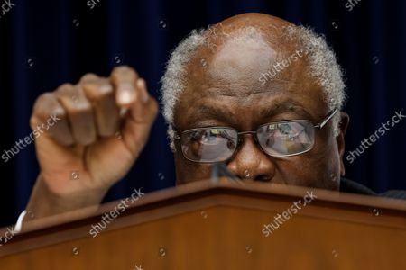Stock Photo of Oversight and Reform Subcommittee Chairman James E. Clyburn speaks at the House Select Subcommittee on the Coronavirus crisis on Capitol Hill in Washington, DC on September 1, 2020.