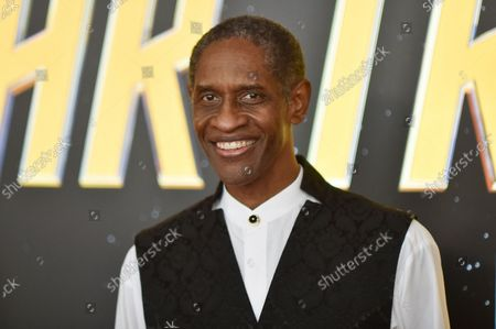 Tim Russ arrives at the Star Trek Day celebration, at the Skirball Cultural Center in Los Angeles
