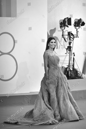 Elisabetta Gregoraci attends the 78th Venice International Film Festival on Wednesday, September 8, 2021 in Venice, Italy.
